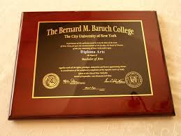 graduation plaque bernard m baruch college graduation gift