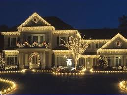 all white icicle lights night lights outdoors house decorate