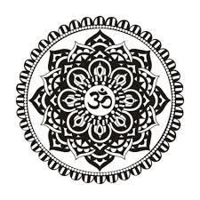 mandala vinyl removable wall sticker indian floral design sun