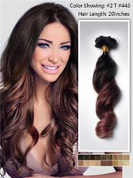 human hair clip in extensions wavy two tone ombre human hair extensions clip in usw162 vpfashion