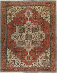 gold rose pattern 8319 antique serapi carpet no 8319 10ft 7in x 13ft 6in rugs