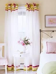 Plain White Curtains Drop Cloth Curtains With Ribbon Trim Studio Space Ideas