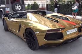 golden lamborghini 6 3 million lamborghini aventador rolls up in paris