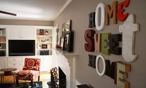 home wall decoration wood how to decorate the walls with wood and metal letters