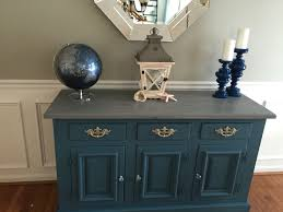 painted dining room buffet using annie sloan chalk paint aubusson
