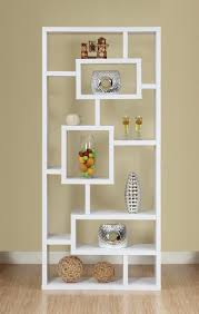 Modern White Bookcase by Open Back Bookcase Furniture Roselawnlutheran