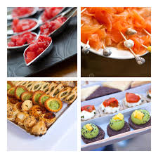 canape toast petits fours stock photo image of banquet canape pizza 52031878