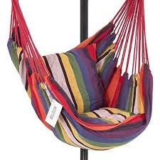bellezza hammock chair with c stand combo cotton fabric 300