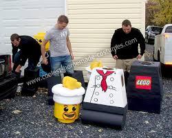 Lego Halloween Costumes Coolest Homemade Lego Minifigures Group Costume Lego Costume