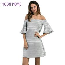 Cheap Plus Size Womens Clothing Online Get Cheap Plus Size Women Grey Off Shoulder Dress