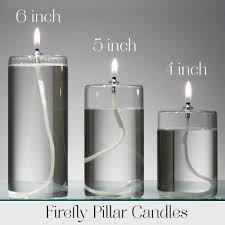 Paraffin Lamp Oil Walmart by Glass Pillar Candle Gift Set Of 3 Housewarming Gift Oil Candles