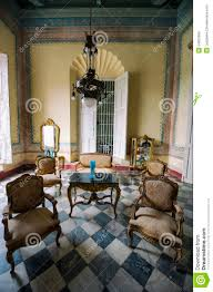 historical colonial cuban interior trinidad cuba editorial stock