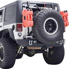 jeep rear bumper 07 16 jeep wrangler jk heavy duty rock crawler rear bumper black w