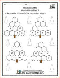 xmas math worksheets 4 christmas trees challenge blank winter