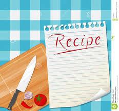 fond de cuisine fond de conception de recette de cuisine illustration de vecteur