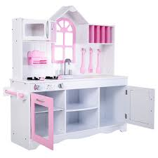 Pretend Kitchen Furniture Wood Toy Kitchen Kids Cooking Pretend Play Set Toy Kitchens