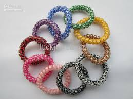 hair bands online hot colorful elastic hair bands telephone wire hair ties mixed