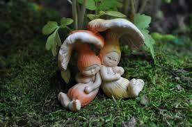 fairy garden statues sleeping mushroom babies fairy garden miniatures fairy garden