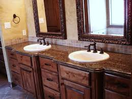 tuscan bathroom design tuscan bathroom with wooden vanities with granite countertops and