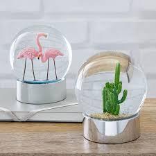flamingo snow globe west elm