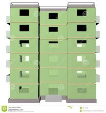 green five story building 3 stock illustration image 40770008