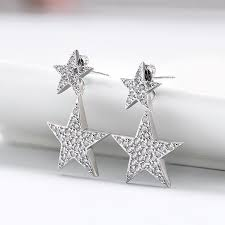 silver stud earrings aaa cubic zircon design silver stud earrings loxlux