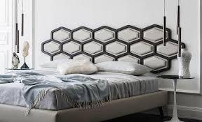 Dream Bedroom Bedroom Inspiration Bedroom Unique Headboard Geometric Contrast