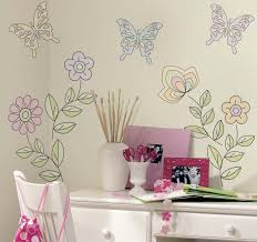 wall stickers for girl color the walls trends including decals wall stickers for girl color the walls trends including decals teenage girls bedroom pictures flower and butterfly decor on white interior plus