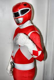 Power Ranger Halloween Costumes Mighty Morphin Power Rangers Red Ranger Suit Costume Xl