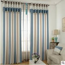 Blue Striped Curtains Adorable Red Striped Curtains And Black And White Striped Curtains