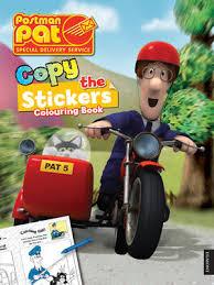 postman pat copy sticker colouring book waterstones