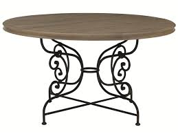 bernhardt auberge dining table bernhardt auberge round dining table with decorative solid steel