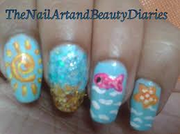 summer beach nail art summer 2013 youtube tropical nail designs