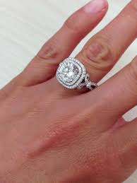 square engagement rings with halo best 25 halo engagement ring ideas on halo