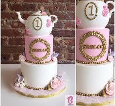 first birthday tea party cake bcakeny cakes pinterest tea