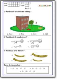 measuring concepts for grade 1 international math olympiad