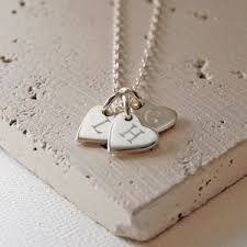personalised necklaces personalised initial heart token necklace 22 00 necklaces