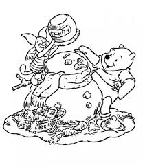 piglet pooh coloring pages winter cartoon coloring pages