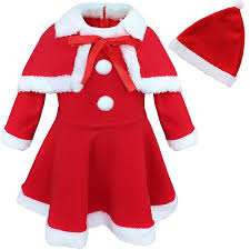 tiaobug baby girls princess christmas santa claus party costume