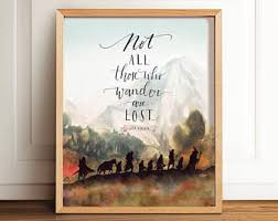Lord Of The Rings Decor Lord Of The Rings Art Print Even The Smallest