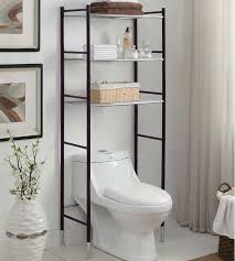 Bronze Bathroom Shelves Bathroom Shelves The Toilet With Steel Tubular Metal Frame