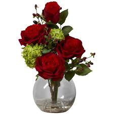 rose u0026 hydrangea silk flower arrangement free shipping today