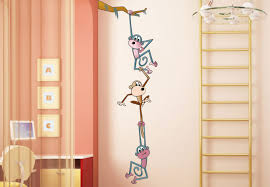 Nursery Monkey Wall Decals Monkey Swing Wall Decal Nursery Decoration