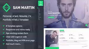 Resume Html Sam Martin Personal Vcard Resume Html Template Themeforest