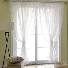 Sheer Ruffled Curtains Voile Ruffle Curtain