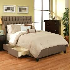 Bedroom Ideas With A Sleigh Bed Mid Century Upholstered Bed With Drawers Upholstered Bed With