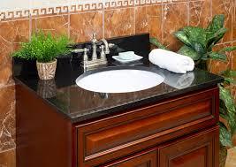Granite Countertops For Bathroom Vanity by Lesscare U003e Bathroom U003e Vanity Tops U003e Granite Tops U003e Absolute Black