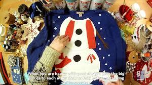 the sweater diy snowman sweater