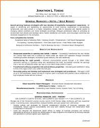 General Manager Resume Template Bar Resume Examples Hospitality Sample Entry Level Food Restaurant