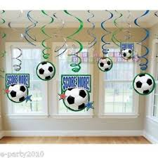 Sports Decorations Soccer Ball Swirl Decorations 12 Birthday Party Supplies